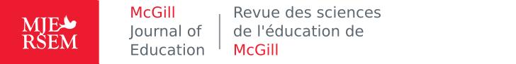 McGill Journal of Education / Revue des sciences de l'éducation de McGill